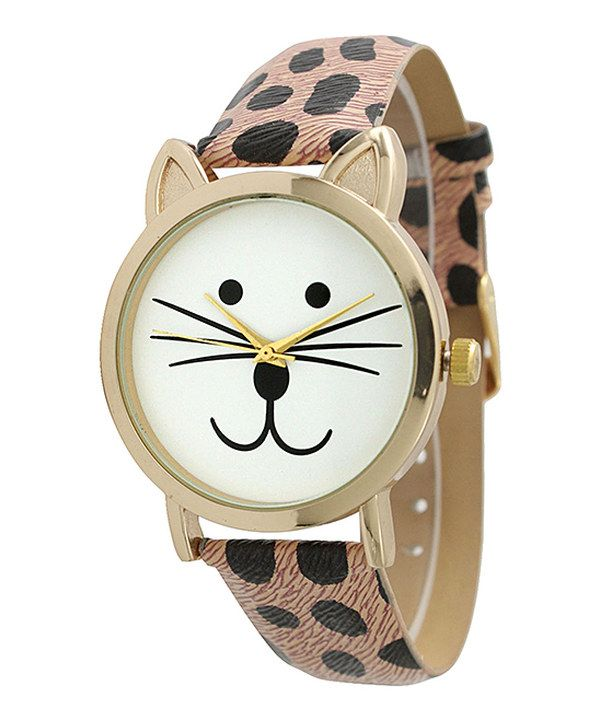 Look at this Leopard Tom Cat Watch on #zulily today!