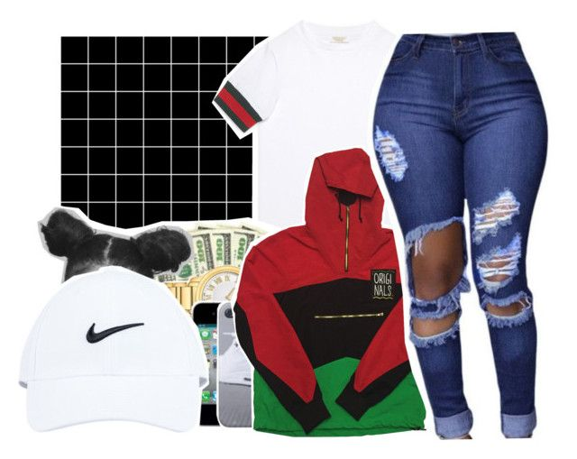 """""""GUCCI MANE️"""" by pinksemia ❤ liked on Polyvore featuring INDIE HAIR and Gucci"""