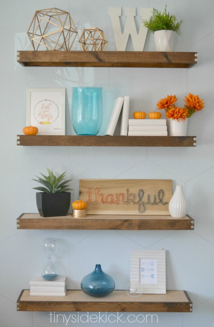 Small white decorative shelf for Shelves for living room decorations