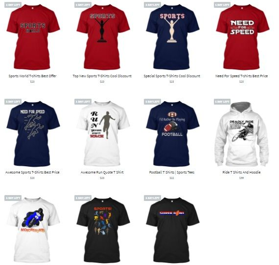 Sports T Shirts And Hoodie Special Price Going On.. Best Quality and Design T Shirts and Hoodie. More Color, Style And Size For Men Women. https://teespring.com/stores/sports-t-shirts-best