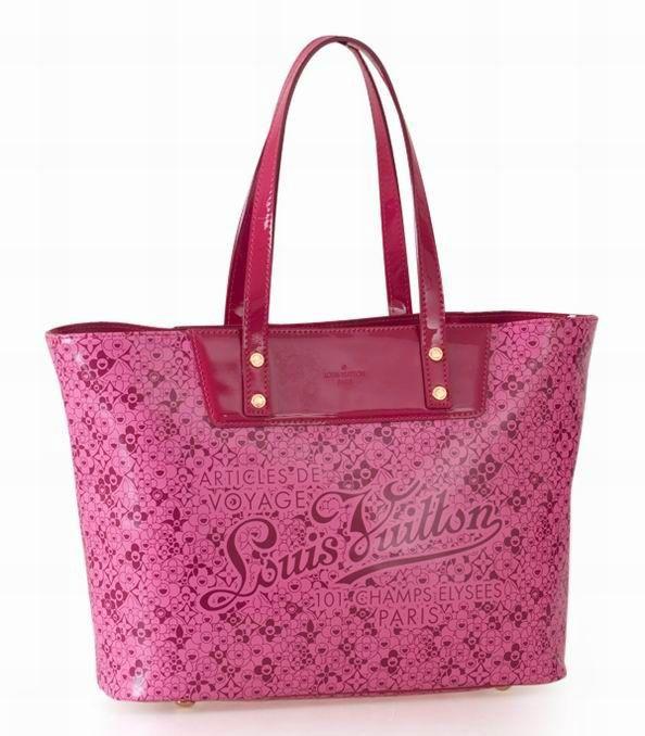 Rouge Rivet Monogram Vernis Cuir Sac Louis Vuitton Femme