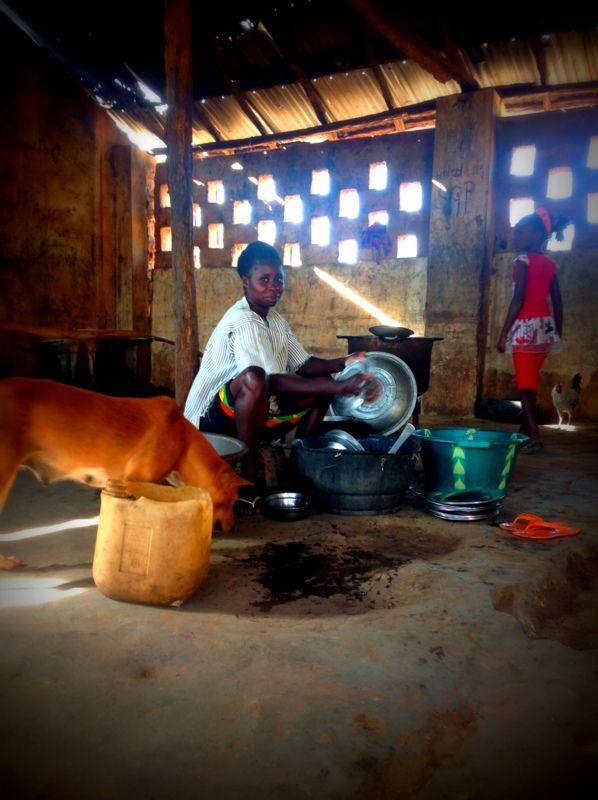 África; Guiné-Bissau; cozinha da escola