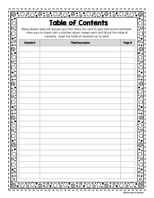 Image Result For Table Of Contents Template