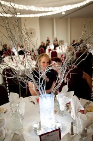 Manzanita Wedding Centerpieces :  wedding branches centerpieces floralytes manzanita red white winter Centerpieces   Manzanita3 i like the LED light in this one