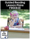 Guided Reading Lesson Plan Template for any level FREEBIE