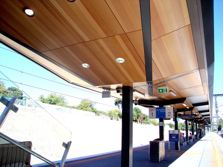 Solid and Perforated Panels used on a Train Station in Victoria