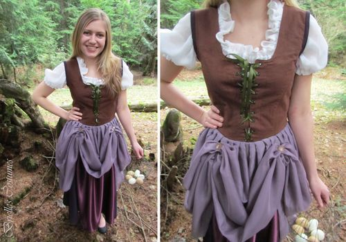Female Hobbit Costume | Or perhaps even an elegant Hobbit would approve of such a design.