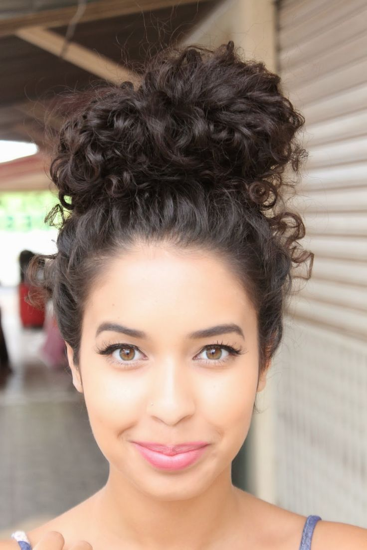 best 25+ messy curly bun ideas only on pinterest | messy updo