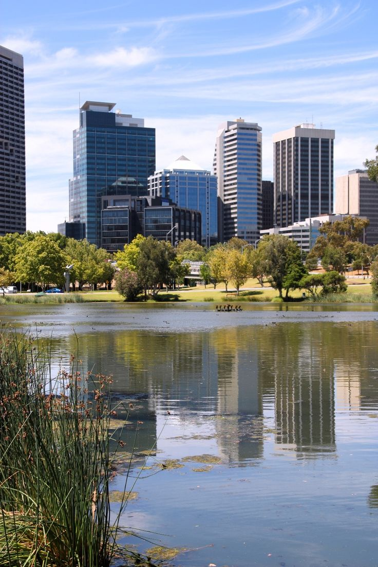 View of Perth from John Oldany Park, Perth, Australia. #perth