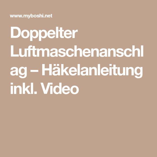 Doppelter Luftmaschenanschlag Häkelanleitung Inkl Video Häkeln
