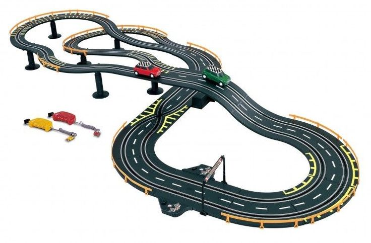 Electric Slot Car Race For Kids Golden Bright Cooper Control 2 Player Chase NEW #GoldenBright
