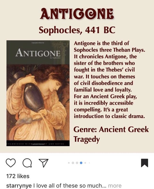 Pin By Jasmine Chavez Richards On Books Greek Plays Antigone Civil Disobedience