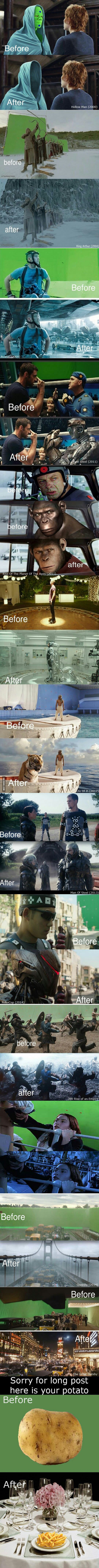 Before and after effect images for fellow 9gaggers...