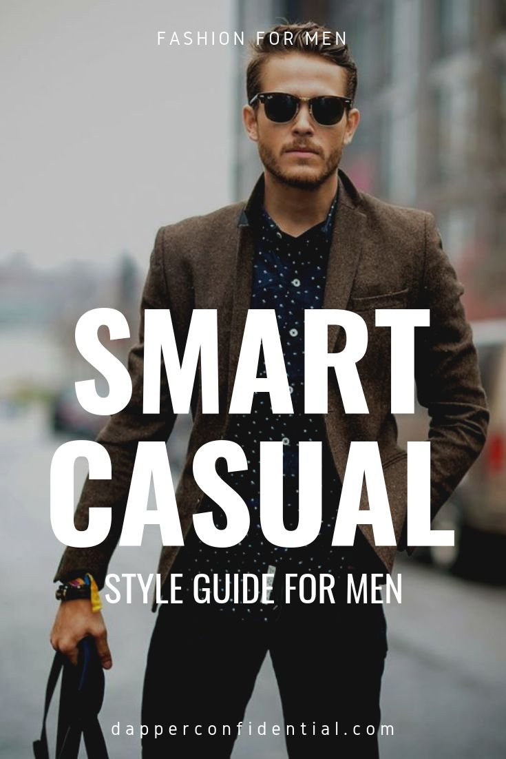 "What is smart casual? Smart-casual focuses on fit and elevating your wardrobe's more ""casual"" garments like tees, jeans, and sneakers. Learn how to create your own smart casual style! #smartcasual #mensstyle #fashion"