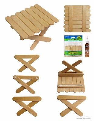 Art Projects for Kids: Popsicle Picnic Table. Free PDF tutorial.