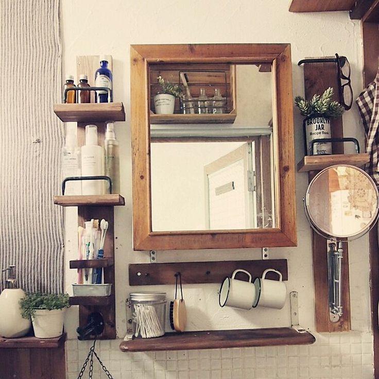 Bathroom/IKEA/洗面台/DIY/タイル/セリア...などのインテリア実例 - 2015-01-18 23:10:23