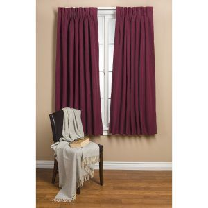 Burgundy Bedroom Curtains