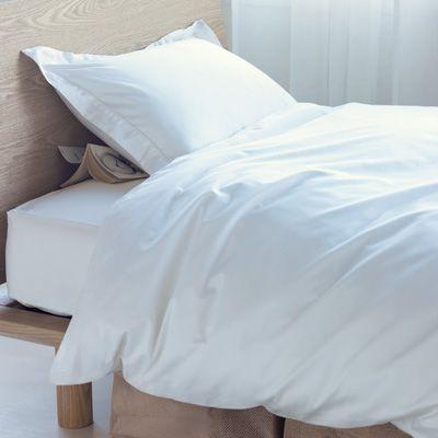オーガニックエジプト綿高密度織ホテル仕様掛ふとんカバー・S/オフ白 150×210cm用 | 無印良品ネットストア