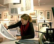Kerry Buck, the U.K. artist and printmaker