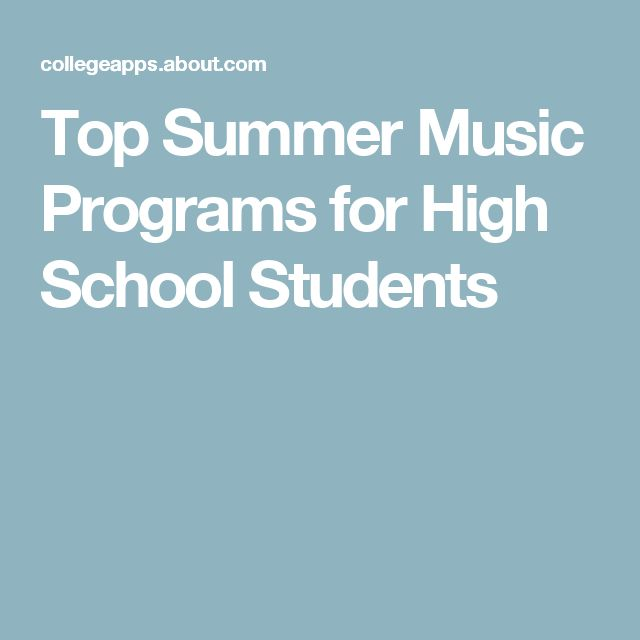 Best 25 high school summer programs ideas on pinterest excellent summer music programs for high school students malvernweather Images