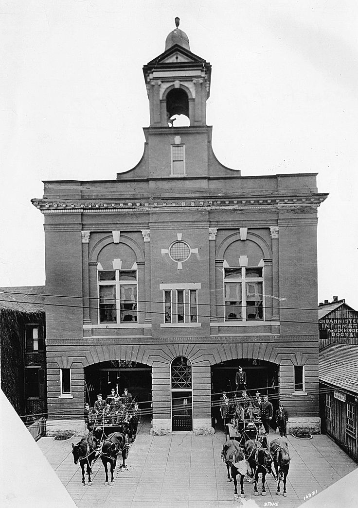 Fire House No. 1 on Church Ave. Built in 1906. Photo from 1912.