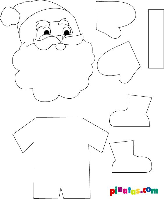 Santa Claus Christmas craft idea template