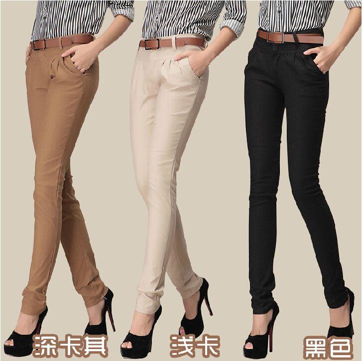 Popular Khaki Pants Womens-Buy Cheap Khaki Pants Womens lots from ...