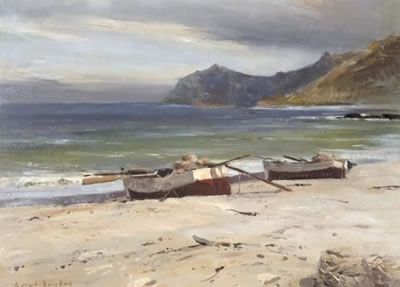 Errol Stephen Boyley - Fishing Boats on the Beach