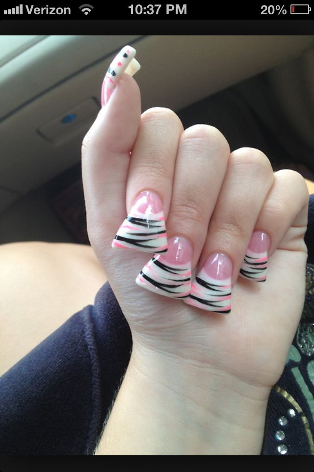 """i'm sorry but, WHY WOULD YOU WANT YOUR NAILS THIS FLARED?! or even flared at all? just saying. """"want some chips?"""" """"oh, no thanks. i've got some doritos on my nails i can snack on."""""""