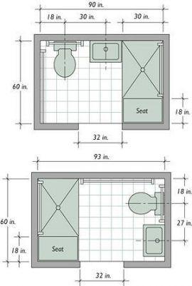 16+ ideas for bath room floor plans guest #bath | small