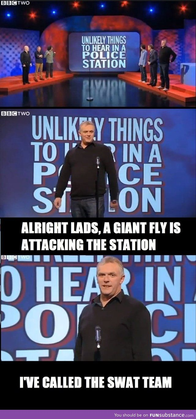 Unlikely things to hear in a police station | Greg Davies | Mock the Week