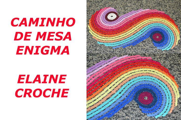CAMINHO DE MESA ENIGMA EM CROCHÊ
