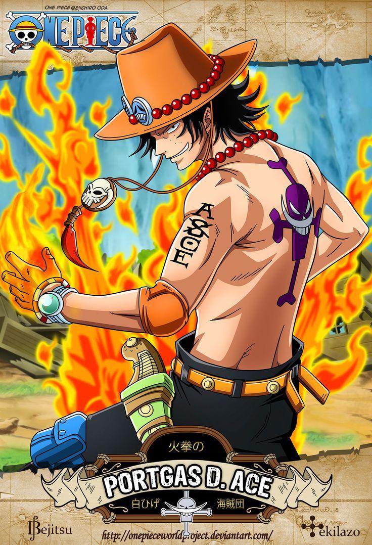One Piece - Portgas D. Ace Cuyo nombre original al nacer fue Gol D. Ace (ゴール・D・エース Gōru D. Ēsu?), fue el hijo de Gol D. Roger, el hombre que se convirtió en el Rey de los Piratas, y su amante Portgas D. Rouge. En su infancia pasaría a convertirse en el hermano mayor adoptivo de Monkey D. Luffy y Sabo.