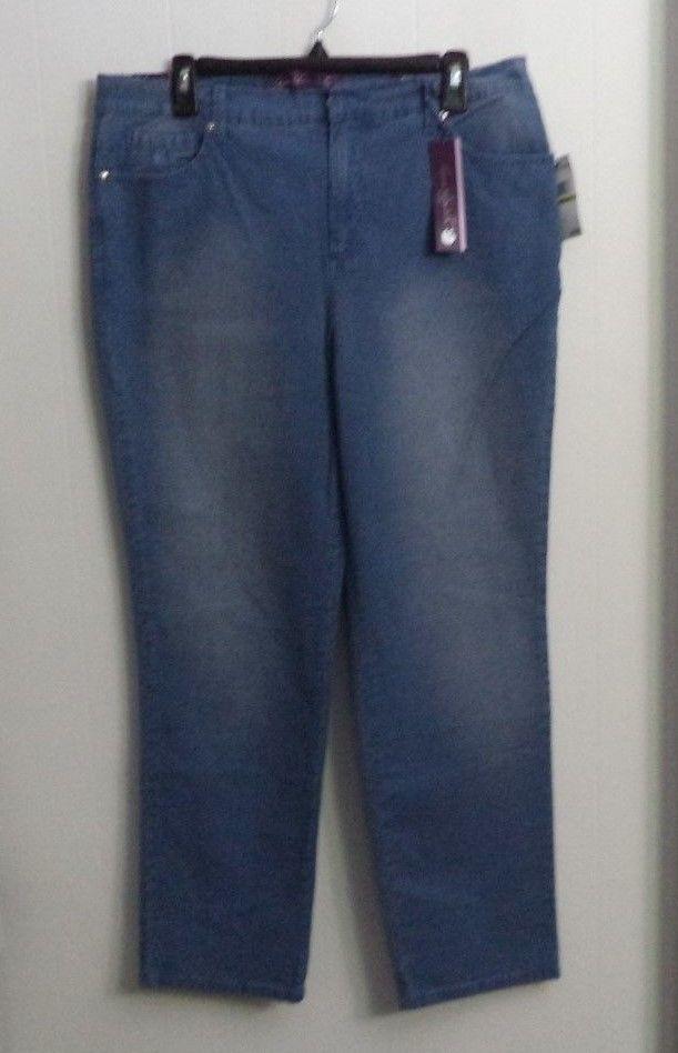 8b43d7a6398 Gloria Vanderbilt Rimini Amanda Jeans Tiny Plaid Print Petite Women s Size  14P  GloriaVanderbilt  TaperedLeg