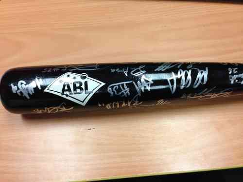 Now is your chance to get a piece of ABL and Perth Heat history. This is a signed team bat from the 2012-13 championship series signed by the Perth Heat roster