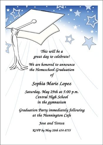 Popular School Graduation Wordings for Announcements Invitations. Rely on the largest database of totally unique graduation wording samples for announcements and invitations for all graduating milestones, from pre-k, miidle school, high school, and advanced and specialty degrees and milestones at CardsShoppe.com