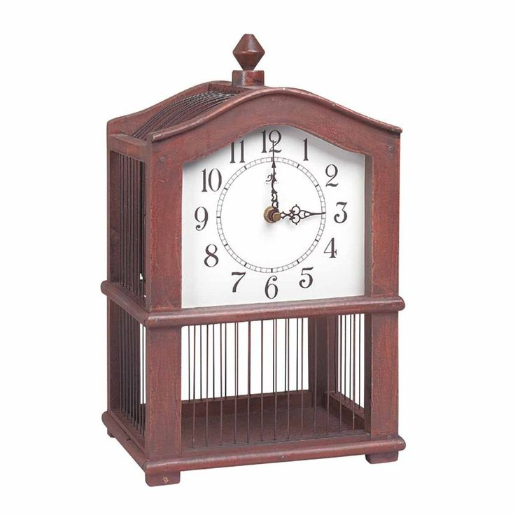 Antique Wooden Victorian Birdcage Clock | Renovators Supply #TheRenovatorsSupply Puts a new spin on the old cuckoo clock lol