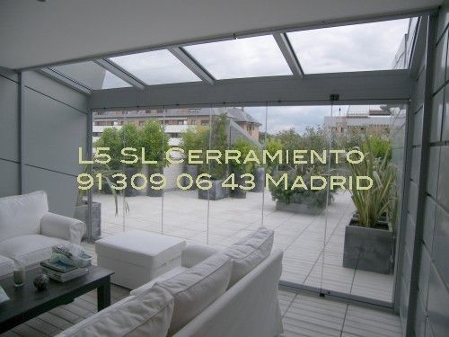 L5 sl madrid cerramientos de terrazas cortinas de - Techos para terrazas ...