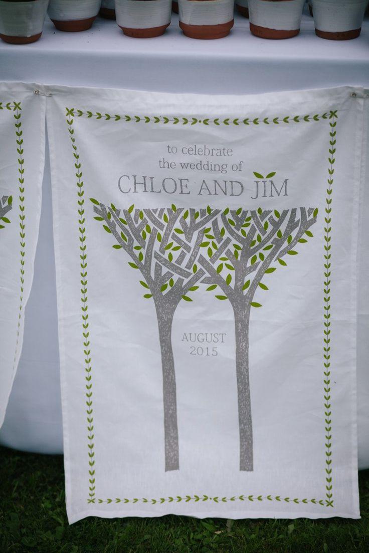 Tea Towel Favours Humanist Field Bright DIY Wedding http://www.christyblanch.com/