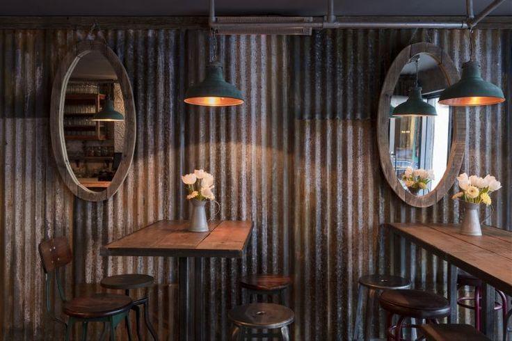 Rustic Galvanised Metal Wood Decor Restaurant Google