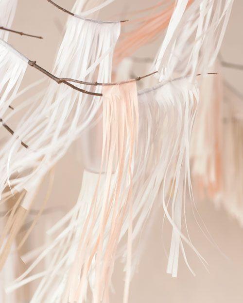 DIY fringe garlands