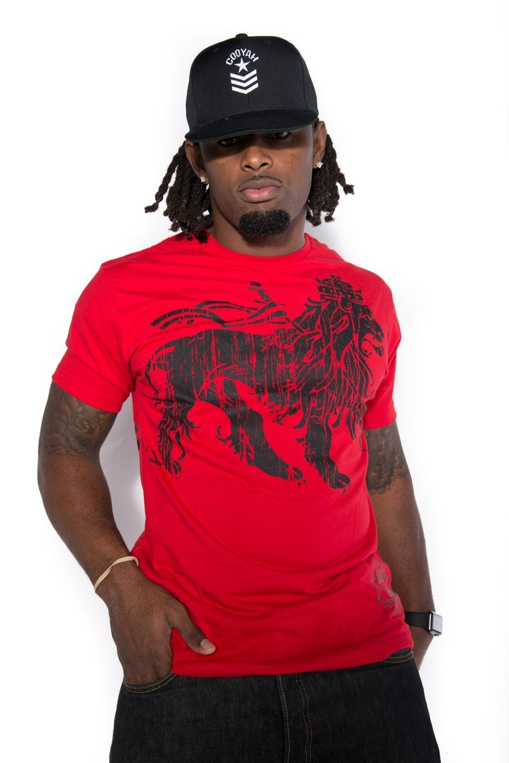 Resting Lion shirt available worldwide at cooyah.com Resting lion graphic printed on a vintage white and red shirt model wearing size large  #fitnessmotivation