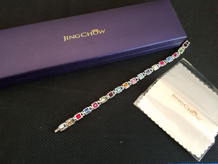 "Amazon.com: Customer Reviews: Women Tennis Bracelet Swarovski Elements Crystal Jewelry for Valentine Anniversary Birthday Gifts, 7.5 "" Length (Rainbow color)"