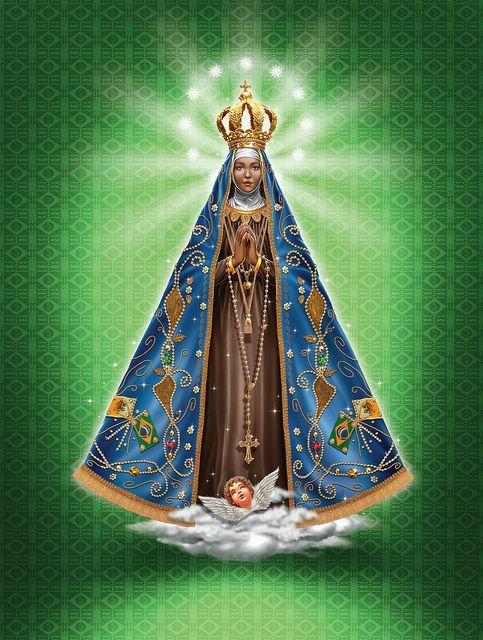 Nossa Senhora Aparecida - Salmos & Anjos #145 by elias silveira ilustração & design on Flickr. Senhora Aparecida, o Brasil é vosso! Rainha do Brasil, abençoai a nossa gente! Tende compaixão do vosso...