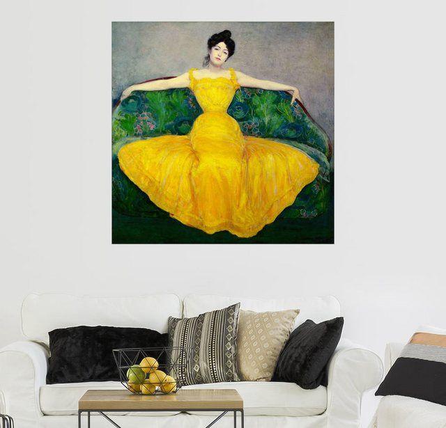 Wandbild Maximilian Kurzweil »Frau in einem gelben Kleid