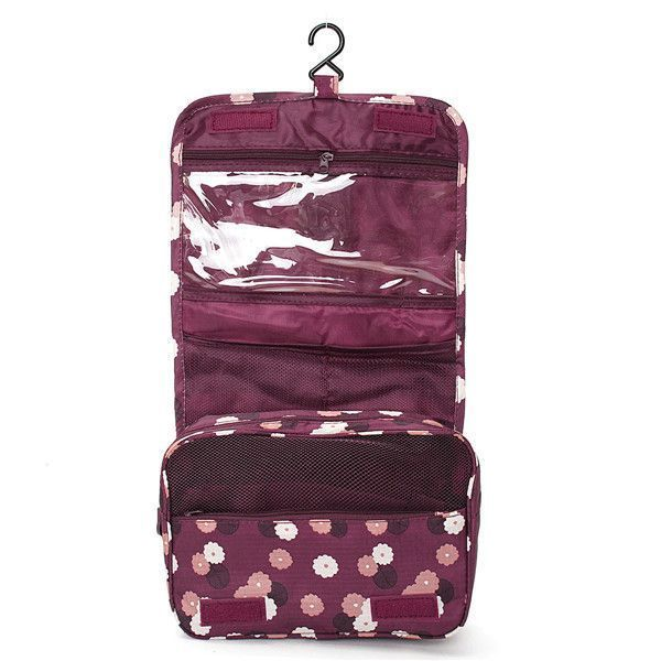 Advice To Make Dealing With Beauty Simple. Zipper Hanging Toiletry Bags  Floral Pattern Travel Organizer Case Women Cosmetic Makeup ... 22867e9cfd9b7