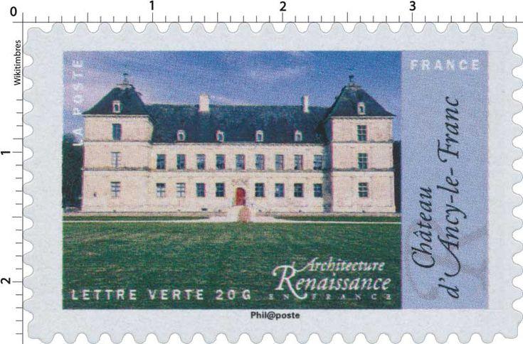 Timbre : 2015 Architecture Renaissance en France - Château d'Ancy-le-Franc | WikiTimbres