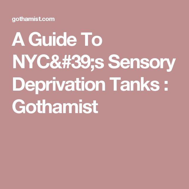 A Guide To NYC's Sensory Deprivation Tanks : Gothamist