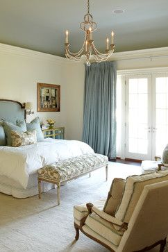 Custom Craftsman - traditional - bedroom - new york - Wright Building Company - walls BM Linen White ceiling Farrow & Ball - LT Blue
