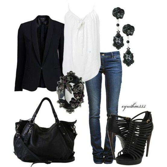 dressy black and white